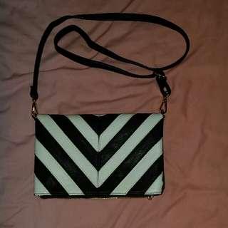 Colette black & white bag