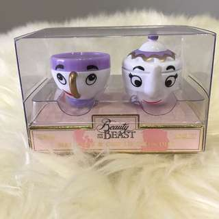 Brand New Beauty & The Beast Mrs Pott & Chip Lip Balm Duo