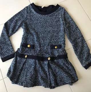 Knitted winter long sleeve top