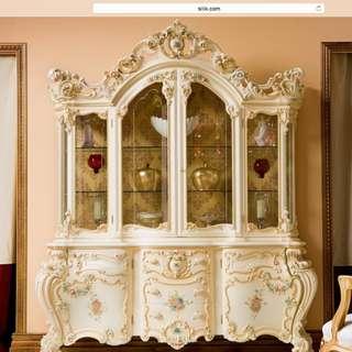 義大利SILIK水晶雕花雙門櫃
