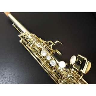 🌟2017年度款🌟【軒音樂器】ㄧ體高音薩克斯風 Soprano Sax 質感拉絲鍍銀