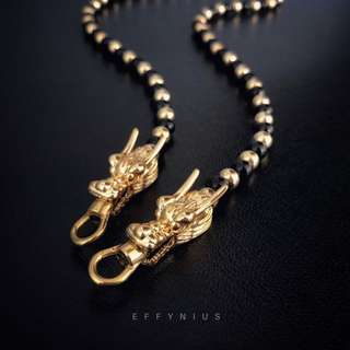 Black Onyx Thai Amulet Necklace [5A] 黑瑪瑙泰國佛牌項鍊