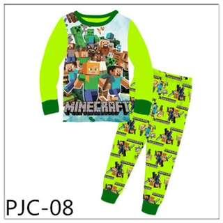 Minecraft big size pyjamas set