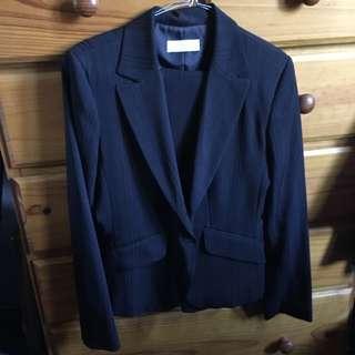Portmans 8 Black Pants Suit