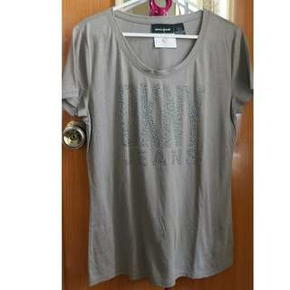 DKNY Gray Brown T-shirt (Size Small)