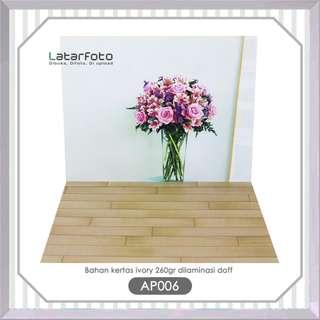 Latar Foto Double Motif Flower Pink Ukuran A3+AP006 Produk Online Shop
