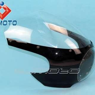 Cafe racer head cowl motorbike