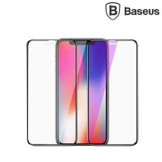 iPhone X BASEUS PET軟膠邊0.23mm 3D強化玻璃貼鋼化玻璃膜屏幕防爆貼Glass GSA3807A
