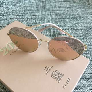 lalau 正韓 氣質粉嫩太陽眼鏡/墨鏡(附收納袋、擦拭布)