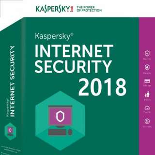 KASPERSKY 3 users 2018 Internet Security (3 users)