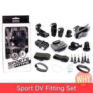 SPORT DV FITTING SET FOR ALL ACTION CAMERA