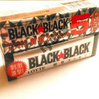 #Lotte BLACK BLACK超提神黑口香糖