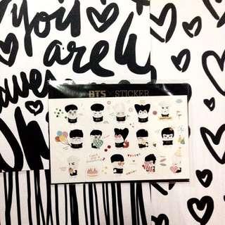 [SALE] BTS Sticker from Skool Luv Affair Album