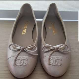 Authentic Chanel Flats, Size 36.5