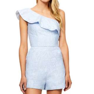 Bardot one shoulder playsuit