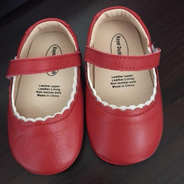 真皮小紅鞋#18鞋內長13.5