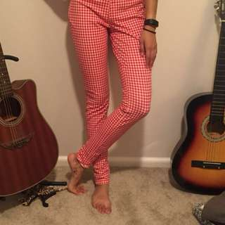 Red and White Checkered Pants