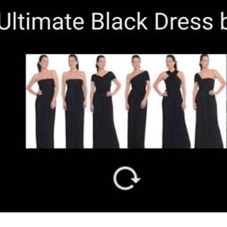 Sascha Drake 'Ultimate Black Dress' Convertible Dress RRP $289