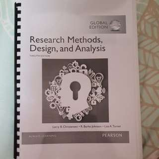 Research Methods, Design, and Analysis (PL2131)