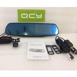 "Smart DashCam 1080P Full HD 4.3"" LCD Rearview Mirror Car Video Recorder Dual Lens Vehicle Camera Car DVR"