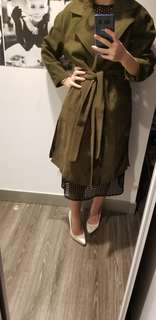 NWOT green oversized coat