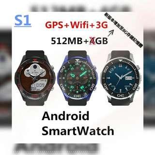 {{{~(繁體版) S1 内置Android系統 智能手錶(SmartWatch)絕非高仿品,原裝正版,絕不會貨不對版,如假包換!!~}}}
