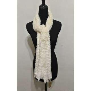 全新~ 台灣製 白色 高雅舒適 保喘 圍巾 男女都可以穿戴