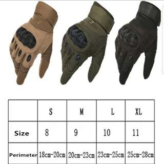 Military Hard Knuckle Tactical Gloves / Motorcycle Riding / Driving / Airsoft / Combat Full Finger Gloves ( UNISEX )