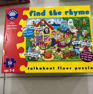 Puzzle : find the rhyme