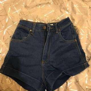 Wrangler pin up high waisted shorts