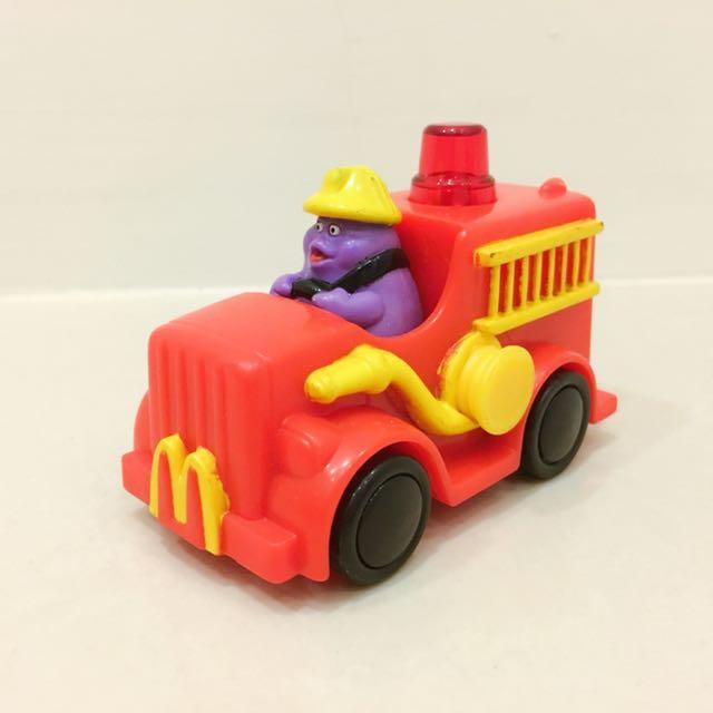 1998年麥當勞萬能車隊/ McSuprise Rides 奶昔大哥閃光消防車/ Grimace