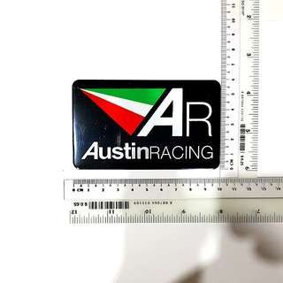 Austin Racing metallic exhaust decal/sticker