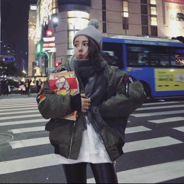 現貨🎉2016秋冬韓版原宿bf風⭐️⭐️舖棉棒球外套⭐️⭐️