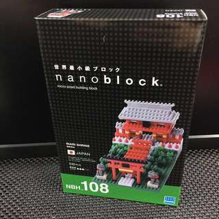 全新正版 Nanoblock JAPAN NBH_108 INARI SHRINE 稻荷神社 NBH 108世界最小積木 河田積木