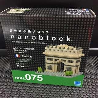 全新正版 Nanoblock FRANCE NBH_075 ARC DE TRIOMHE DE I'ETOLE 凱旋門 世界最小積木 河田積木