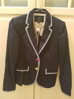 J Crew jacket with trim