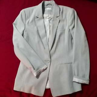 Grey Formal Work Blazer Jacket