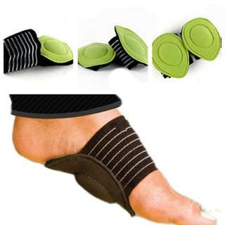 1 pair of New Absorb Shocking Foot Arch Support Plantar Fasciitis Heel Pain Aid Feet Cushioned Useful