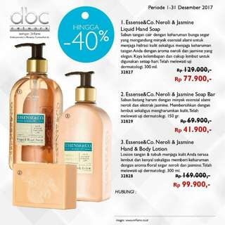 Essense & Co hand soap/ soap bar/ body lotion oriflame
