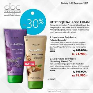 Love nature body lotion oriflame