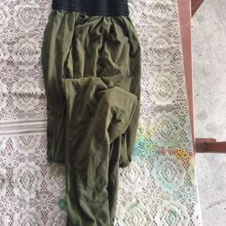 Green genie pants