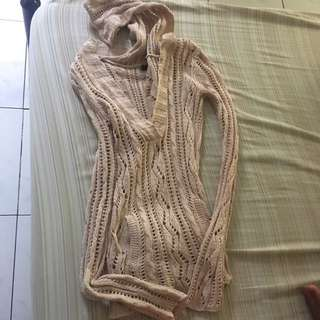 American Eagle Crochet Sweater