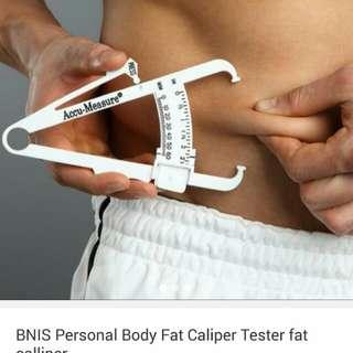 Personal body fat tester caliper