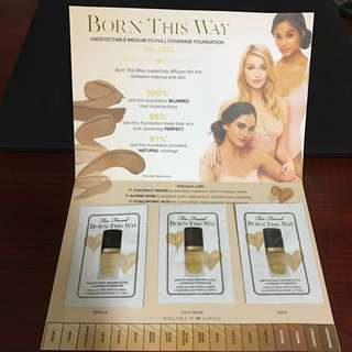 Too Faced Born This Way Foundation Samples