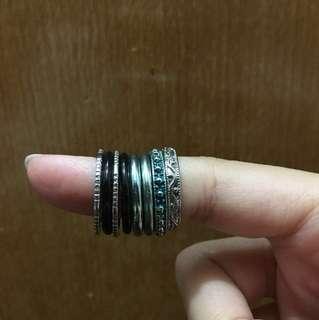H&M rings (8 pcs)