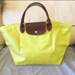 Longchamp bag L size yellow