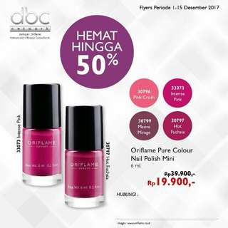Oriflame pure colour nail polish mini
