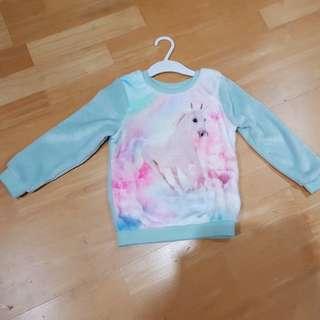New H&M unicorn sweater 2-4yo