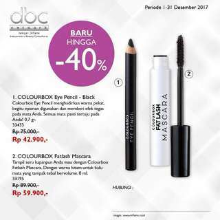 Colourbox eye pencil/ mascara/ eye shadow (oriflame)