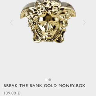 Versace gold money box 100% new and real!